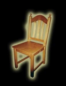 Fenyő Diána szék golyós háttámlával