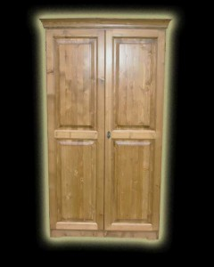 Fenyő Onyx 2 ajtós ruhás szekrény